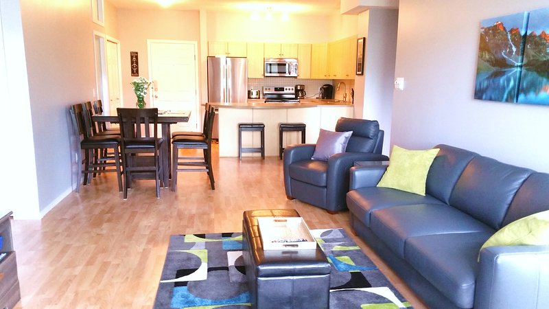 Kitchen complete with all dishes, dishwasher, & dining for 8 - extra table leaf, queen size sofa bed