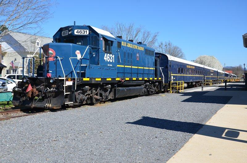 Tren Blue Ridge escénica