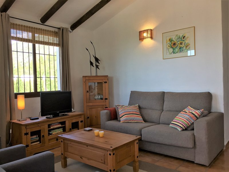 The cozy living area