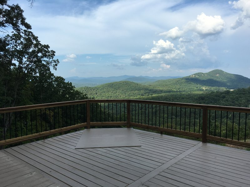 The awesome view from Mt. Yonah Palace