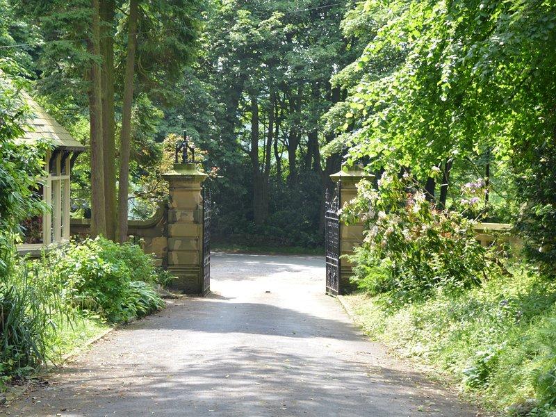 Impressive driveway gates