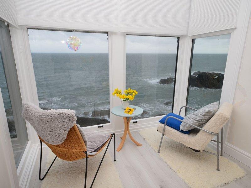 Enjoy views out to sea