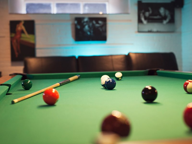 A proper pool table in the games room,along with PlayStation3 and more traditional darts!
