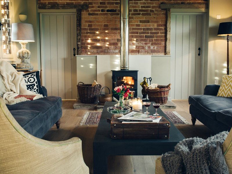 Comfort and style in-front of the woodburning stove