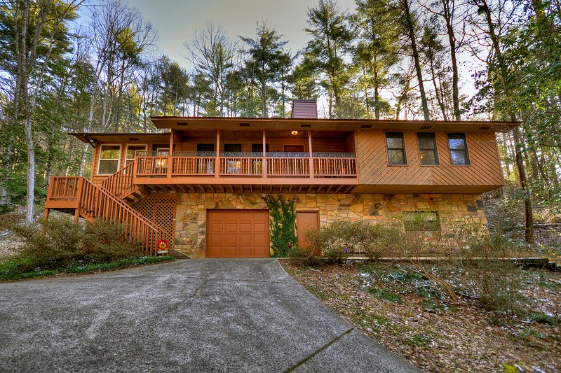 Beautiful 3bed 2bath cabin w/wifi, cable, firepit, & hammock, minutes from falls, holiday rental in Blairsville