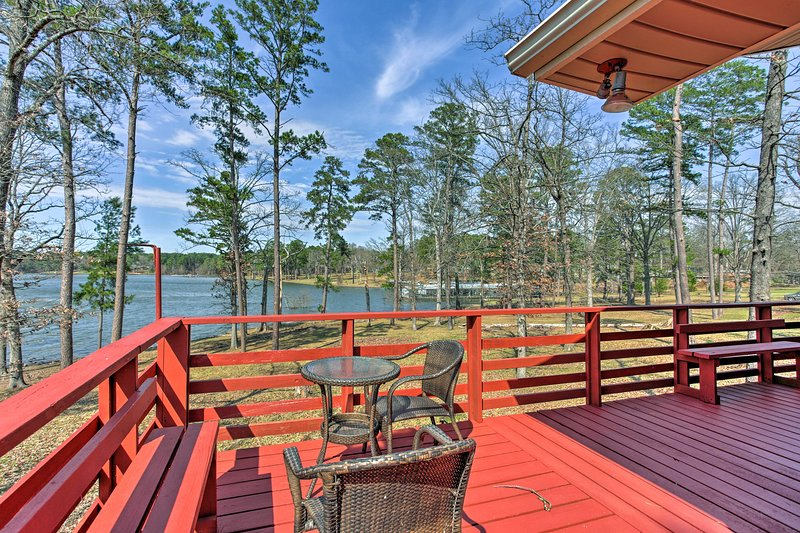 Lakefront adventures await at this 3-bedroom, 1.5-bathroom vacation rental home!