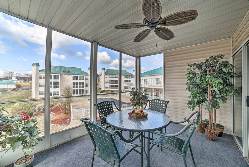Book a trip to this 2-bedroom, 2-bath vacation rental condo in Branson.