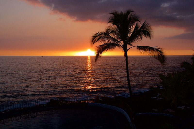 Perfect Kona Sunset vu de l'unité