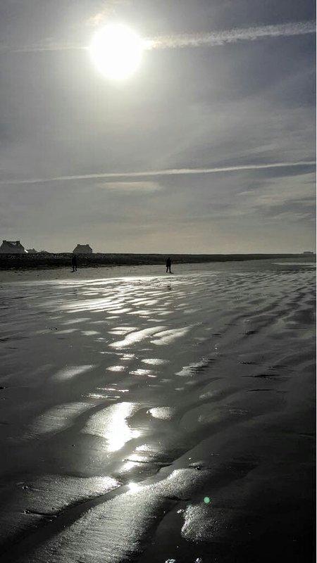 het strand van Penhors, 7 km afstand