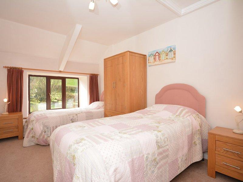 Zweibettzimmer den gemeinsamen Garten mit Blick auf