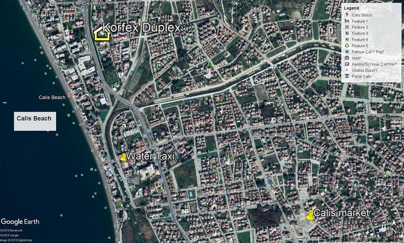 Anteojos de la Tierra Mapa de ubicación