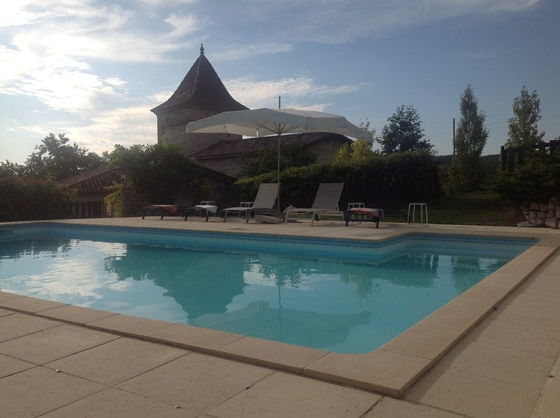 Beautiful white stone country house, holiday rental in Andillac
