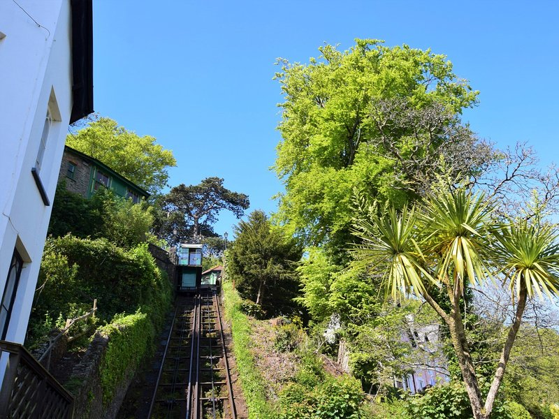 The famous 18th century Cliff Railway which is located next to the apartment