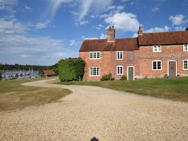 View towards the Property in Bucklers Hard (right hand side property)