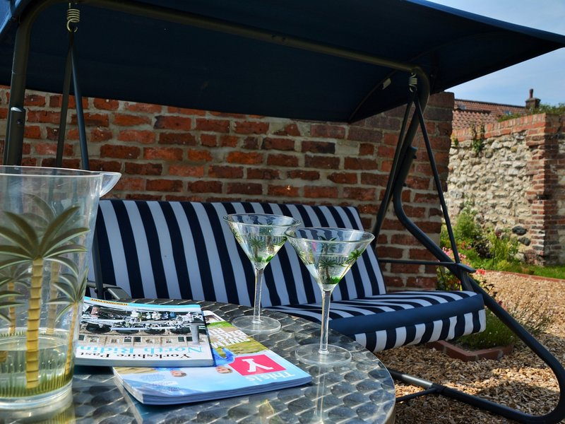 Enjoy a good book and relax in the garden