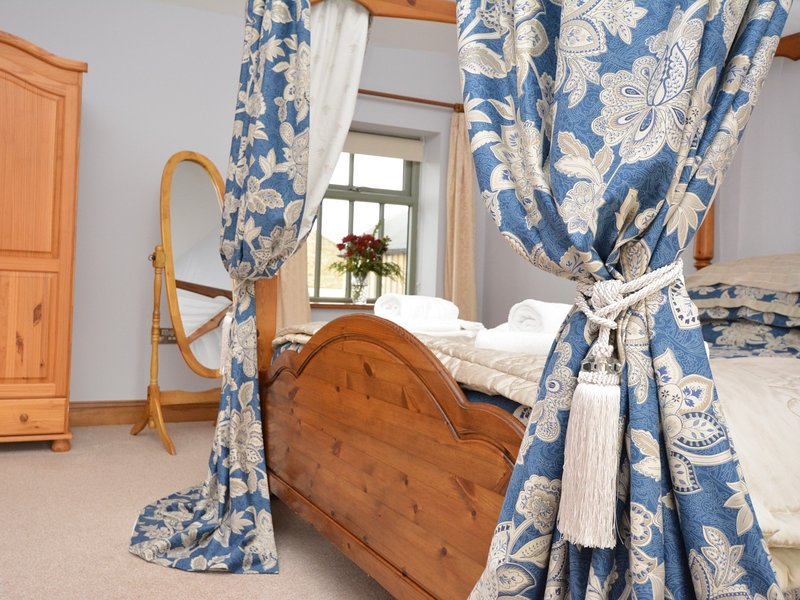 Luxury of the four poster bed