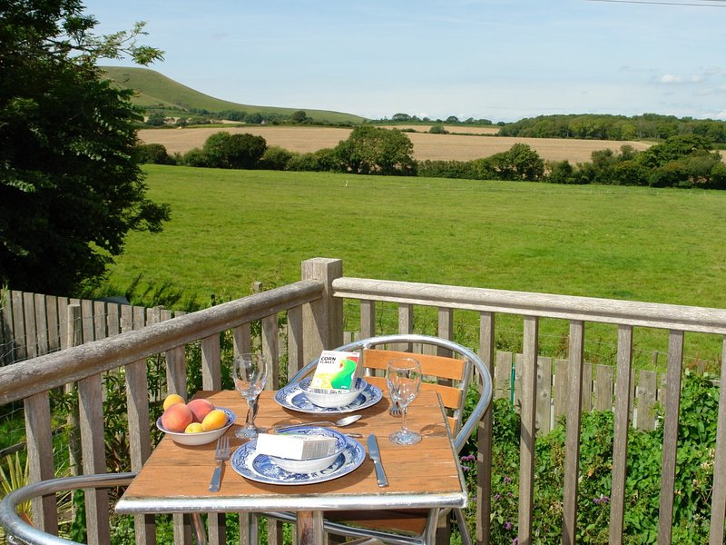 Balcony overlooking the rolling countryside