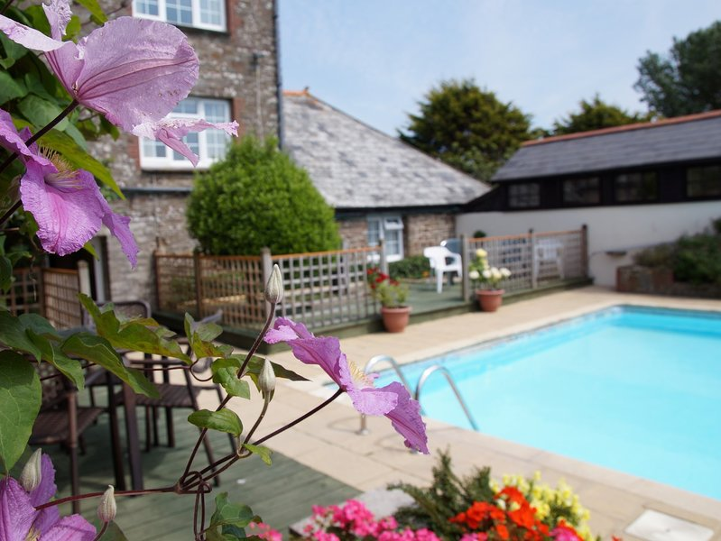 Shared outdoor heated swimming pool