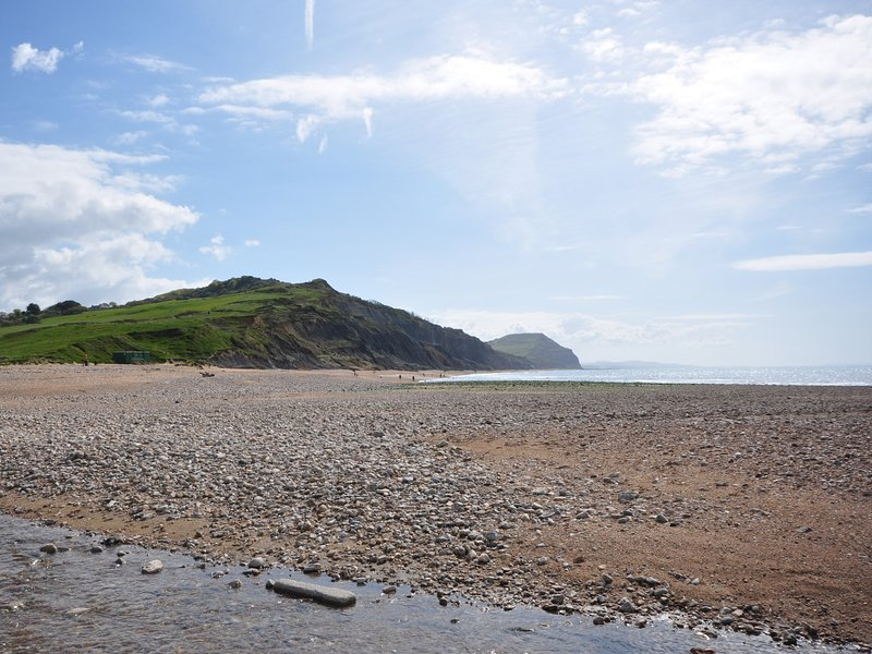 Charmouth beach within walking distance
