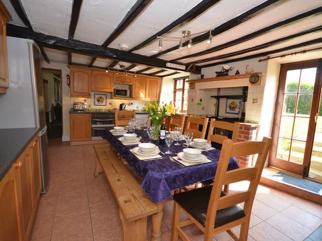 Open plan kitchen/diner with access to the garden