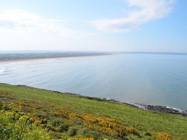 Nearby view towards Saunton beach