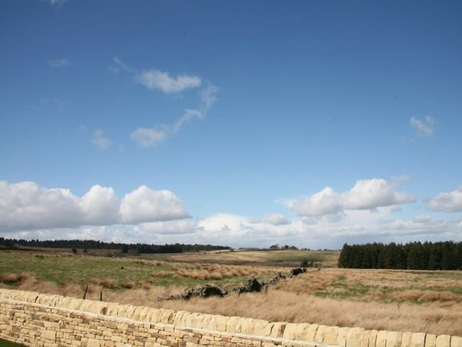 Uninterrupted countryside views at the rear of the properties