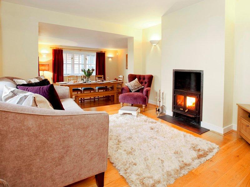 Lounge with log burner