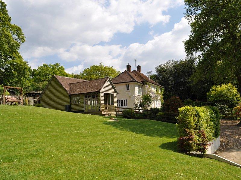 Beautiful garden surrounds this beautiful property