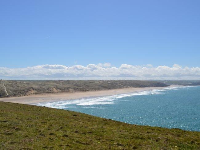 Views towards Perranporth beach
