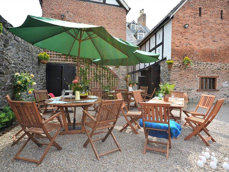 Enjoy al fresco dining in the courtyard