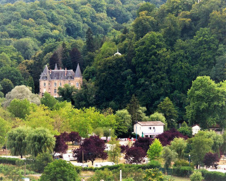 Camping along the river Moselle near Metz.
