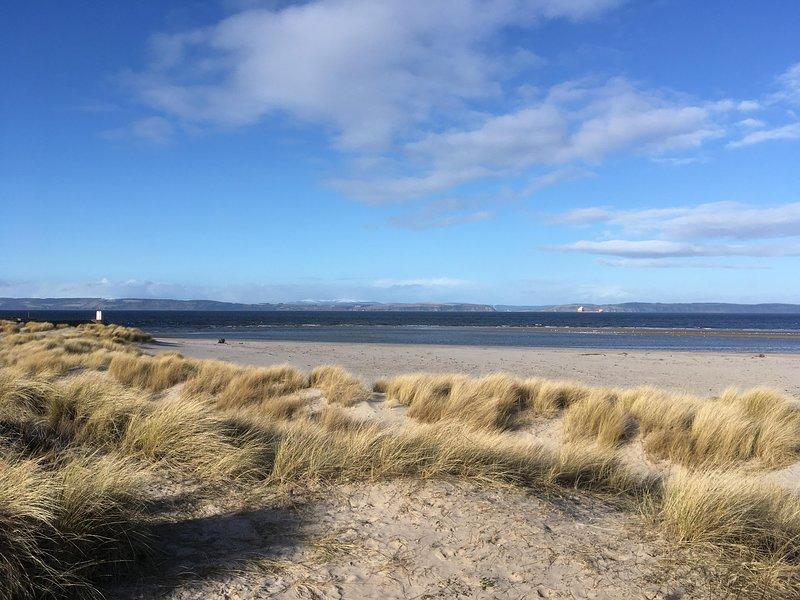 1 minute walk from caravan to nearby beach.