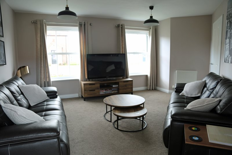 Spacious lounge with comfortable seating