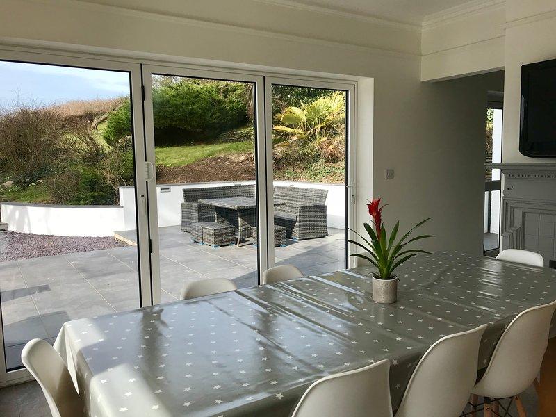 Beautiful light kitchen dining area