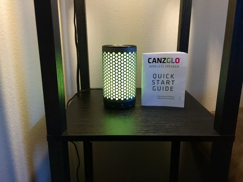 Enjoy your favorite tunes with a Bluetooth. Also has a multi mode LED light show.