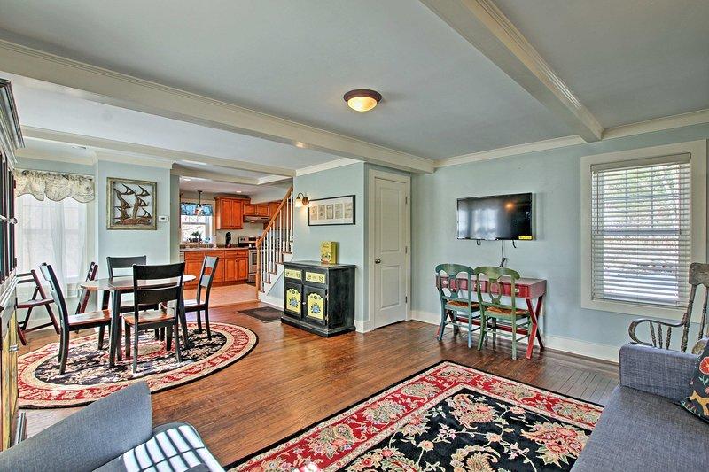 Vous allez adorer le plan d'étage ouvert à ce 2-lit, location vacances maison 2-bain!