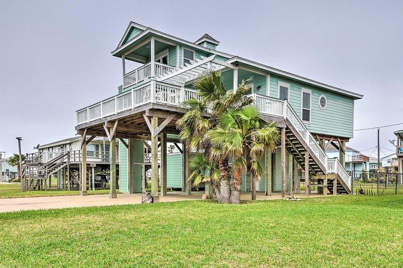 Questa casa si trova a pochi passi dalle spiagge di sabbia di Freeport!