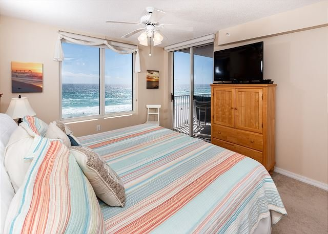 Beach front master bedroom