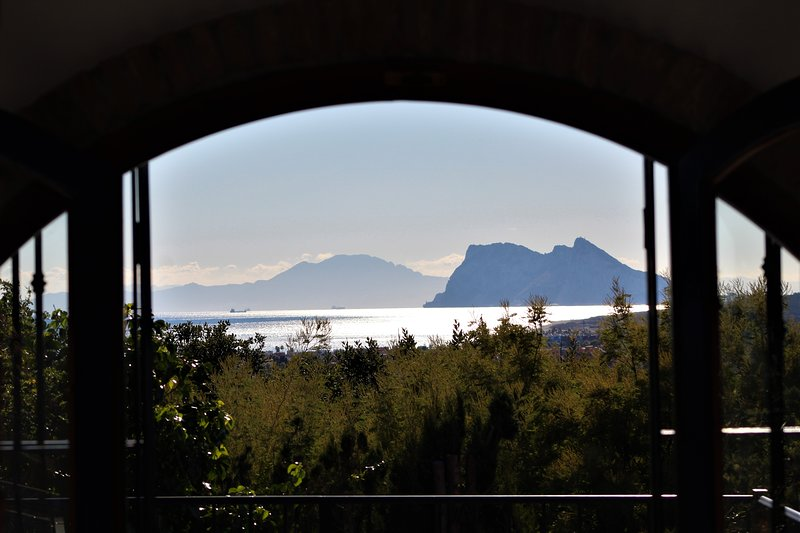 Vista de Gibraltar e África