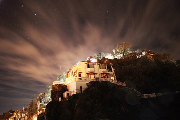 The night view of Trishul. It commands majestic views of the valleys ahead