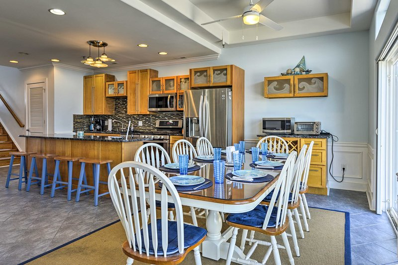 Up to 10 guests can spread out in 1,800 square feet of living space.