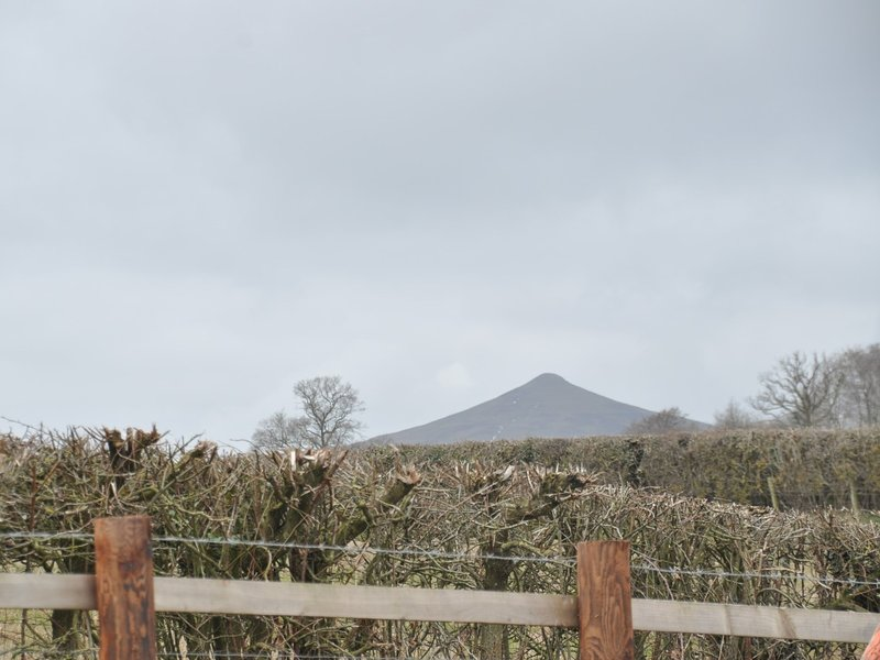 Access to the Skirrid just across the road