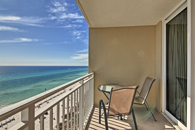 Enjoy PCB at this oceanfront 1-bedroom, 1-bathroom condo for 6.