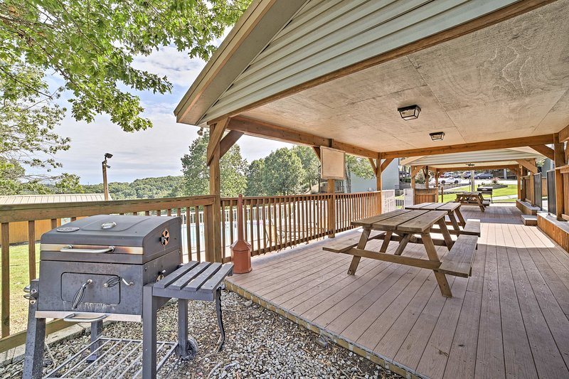 You'll love grilling al fresco by the pool area!