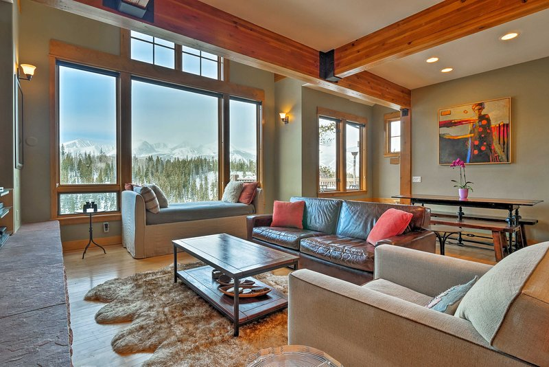 Explore the scenic Summit County from this remodeled Breckenridge townhome.
