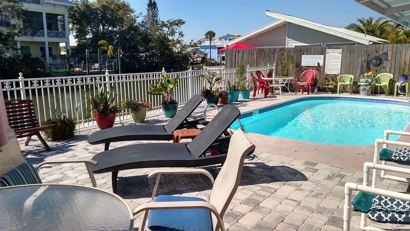 Water front FMB #1, dock, pool, 1 block to beach, holiday rental in Fort Myers Beach