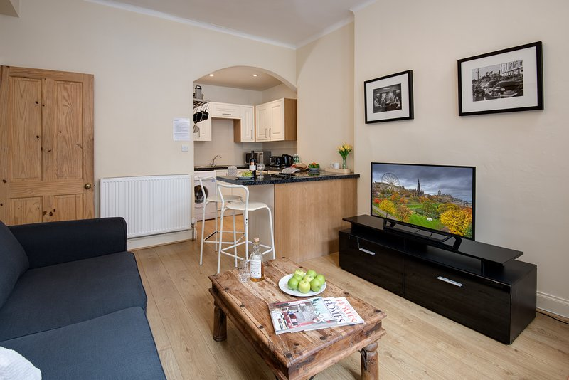 Open plan living with all the modern conveniences required