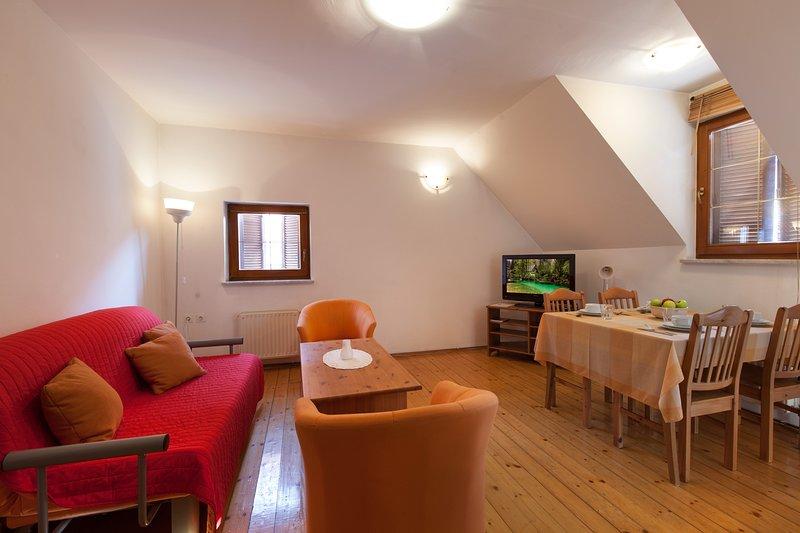 Apartment ŽABJAK - living room with dining corner