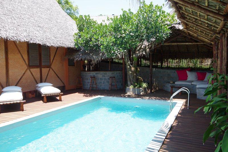 piscine terrasse salon et bar