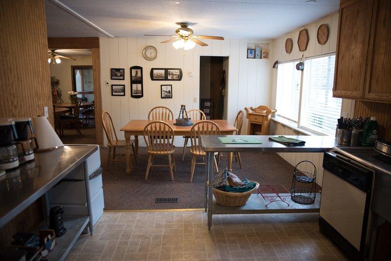 ALPINE KITCHEN INTO DINING ROOM